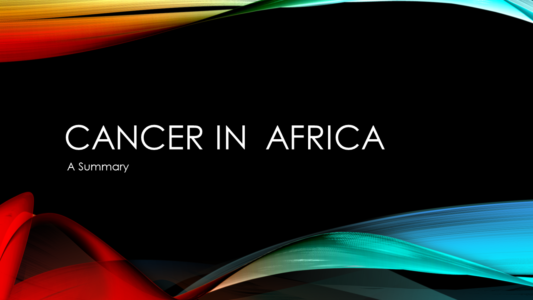 Cancer in Africa