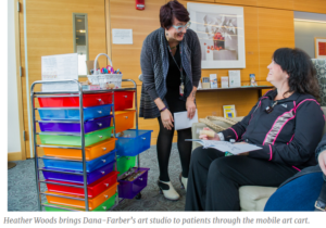 Mobile Art Cart Helps Relieve Stress and Pain for Patients